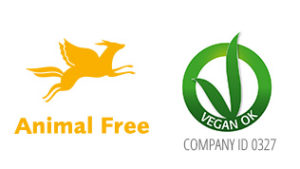 logo Vegan Ok and Animal Free